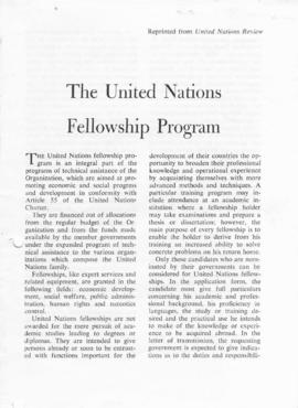 CBPE_m278p07 - The United Nations Fellowship Program e Administrative Guide For Holders Of United Nations Fellowships, 1960-1961