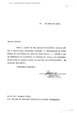 CODI-SOEP_m012p01 - Relatório sobre as Provas de Nível Mental do Concurso de Datiloscopista, 1941