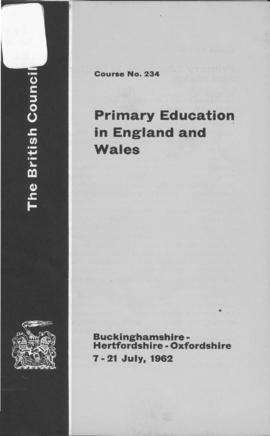 CBPE_m085p02 - Primary Education In England and Wales, 1962